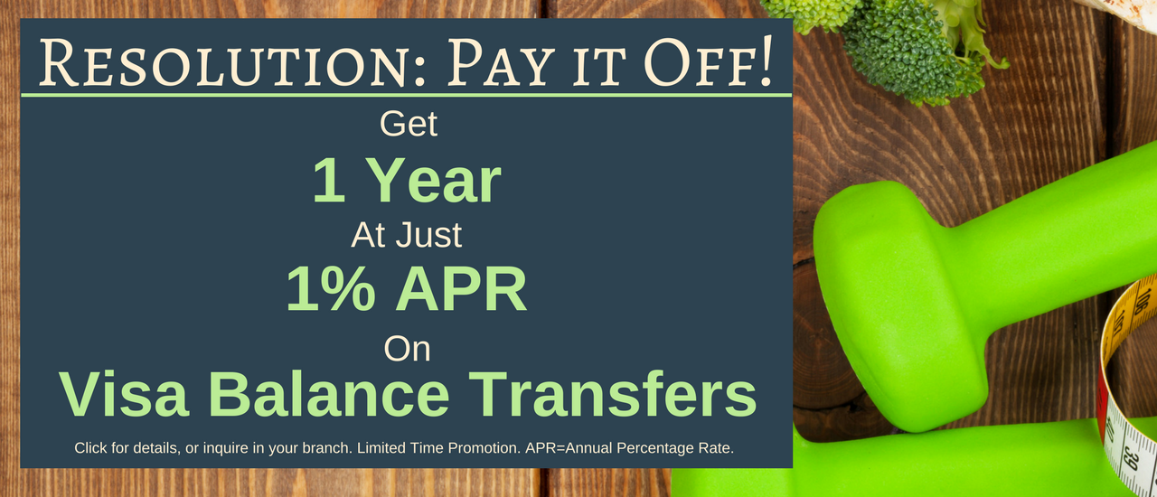 Resolution: Pay it Off Visa Balance Transfer promotion