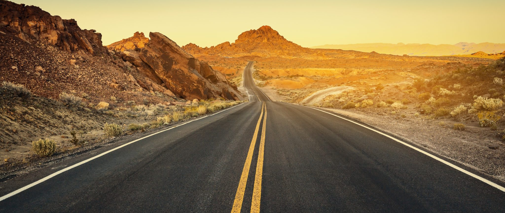 Nevada Road at Sunset Picture