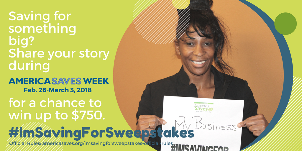 America Saves Week I'm Saving For Sweepstakes