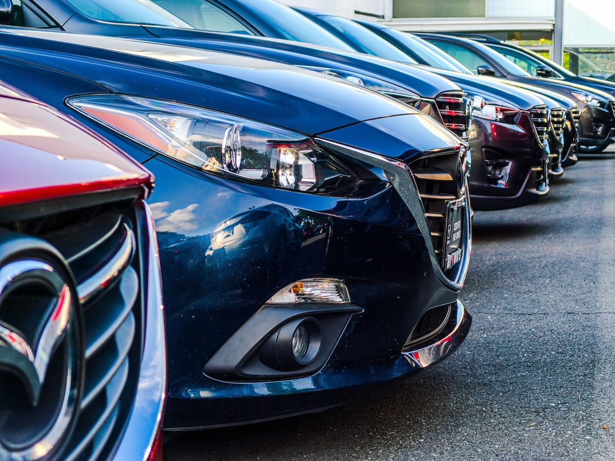 cars lined up in a row