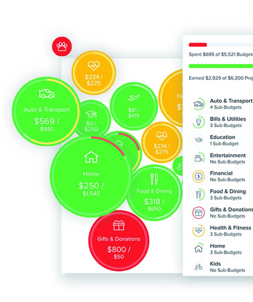 Bubble Budget composite image