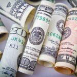 rolled bills in different denomenations