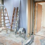 room undergoing various stages of renovation